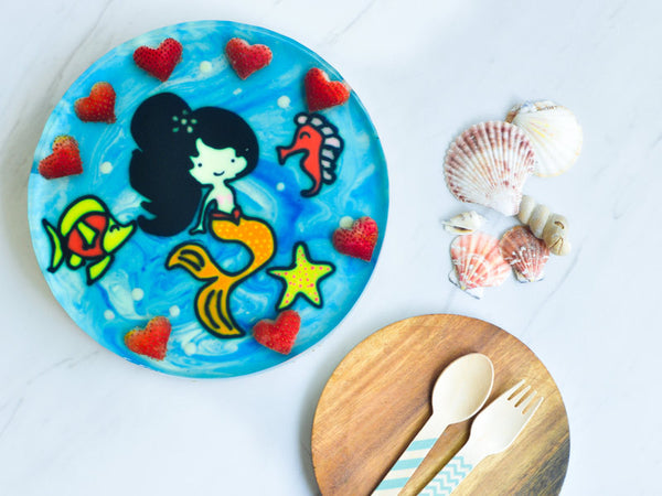Hand-Drawn Mermaid Sandy with Customised Wordings (9inch)