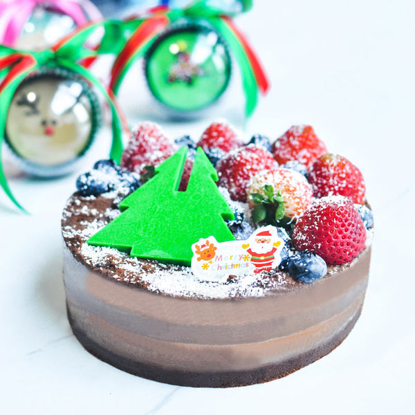 Xmas Theme Milo Flavour Jelly Cheesecake