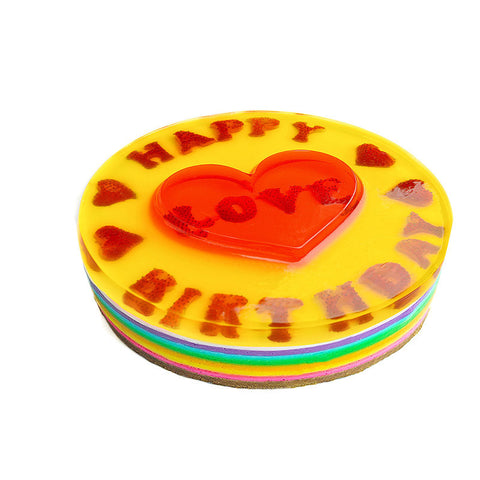 3D Heart Multi Layer Rainbow - (incl GST)