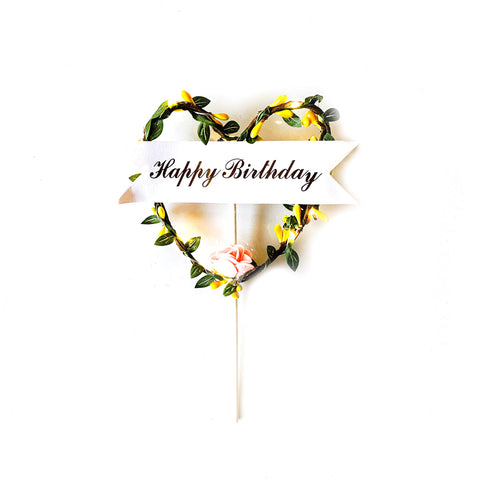 LED Light Cake Topper (Heart) - (incl GST)