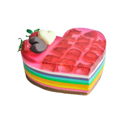 Multi Layer Rainbow Heart - (incl GST)
