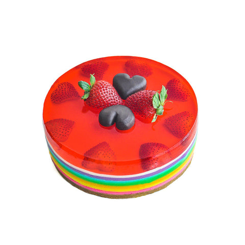 Multi Layer Rainbow Round - (incl GST)