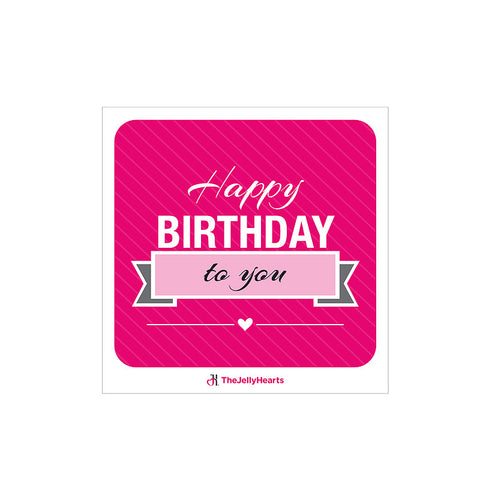 Customised Gift Card - Happy Birthday Pink