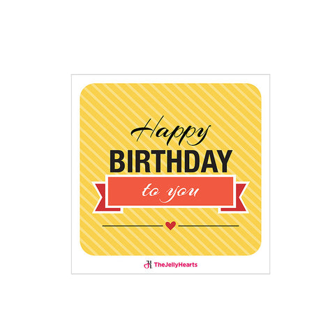 Customised Gift Card - Happy Birthday Yellow