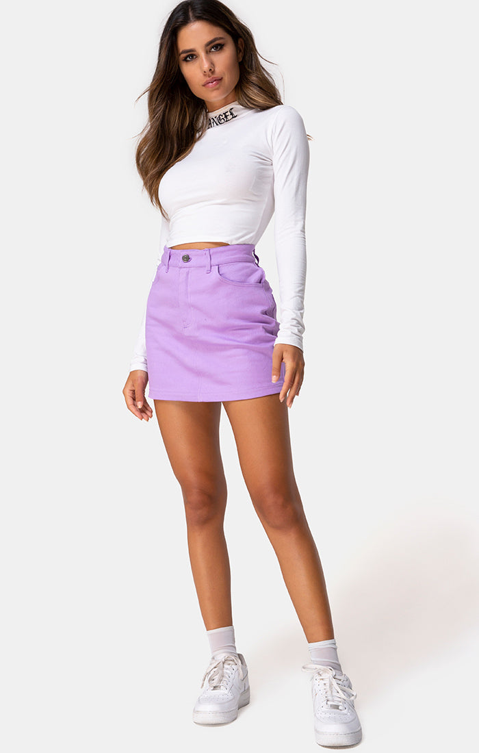 MINI BROOMY LILAC SKIRT