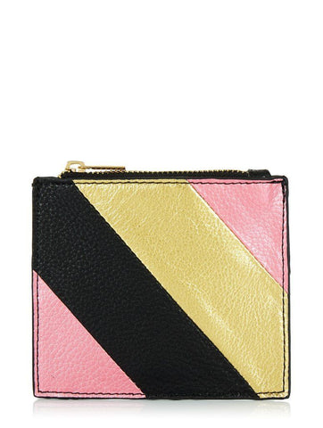 METALLIC STRIPE PURSE