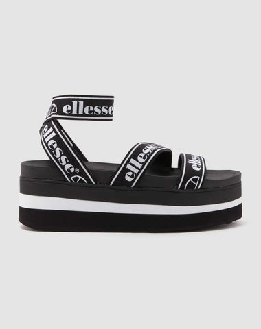 ELINA TEXT SANDAL BLACK / WHITE