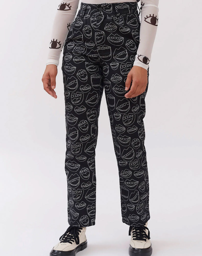 LAZY OAF CHATTERBOX MOUTH PANTS