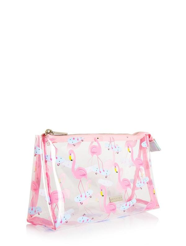 SKATER FLAMINGO WASH BAG