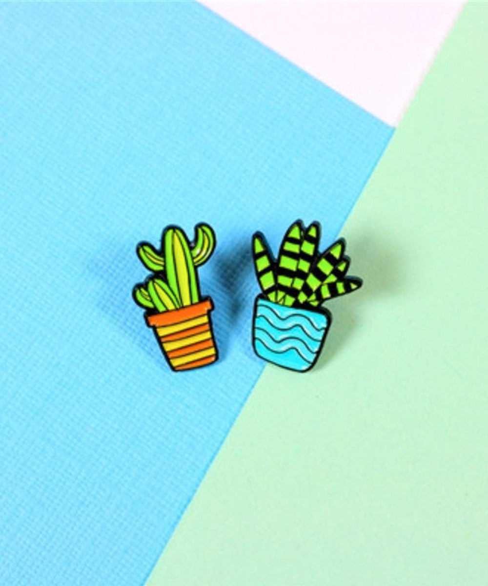 CACTUS BLUE ORANGE PIN
