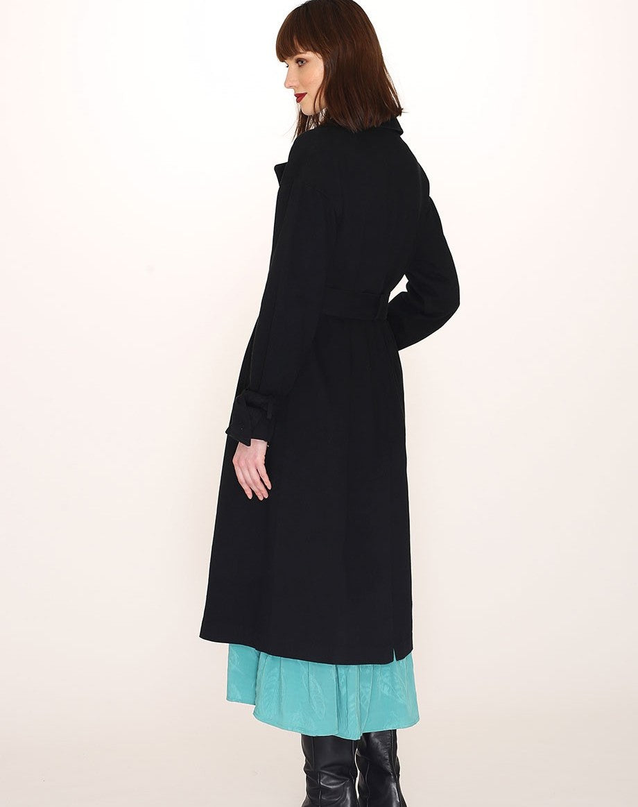 COTTON TRENCH COAT BLACK