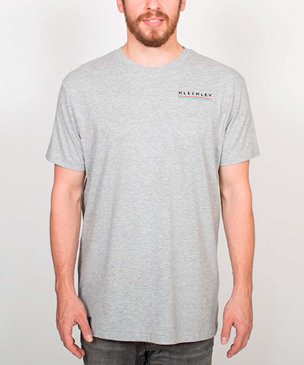 SHARKY AQUA GREY TEE