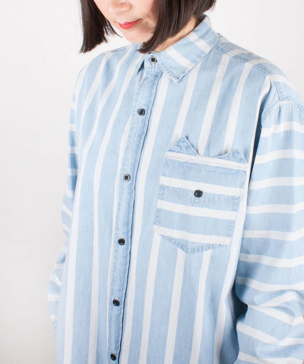 CAT POCKET DENIM SHIRT
