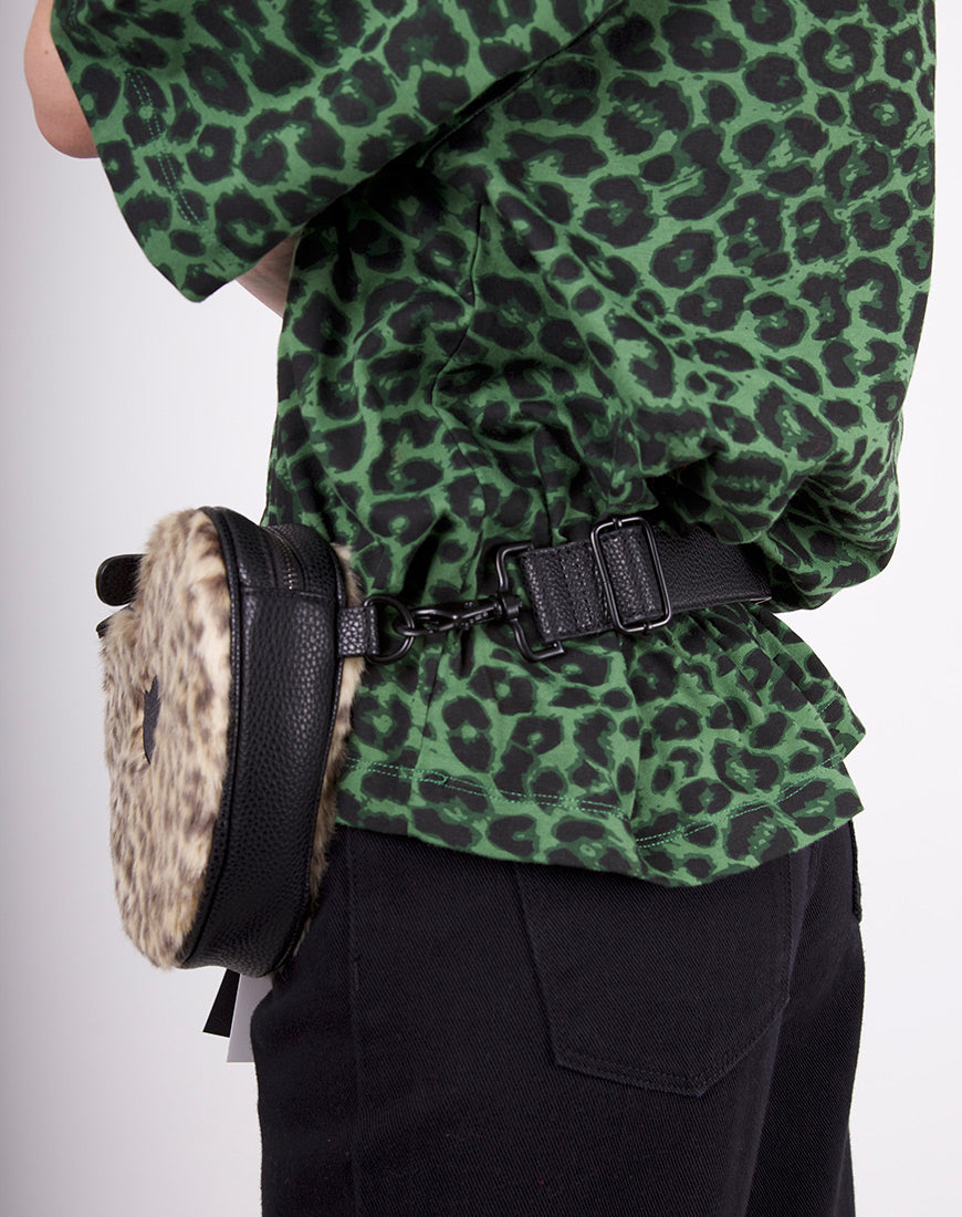 LEOPARD HEART BUM BAG
