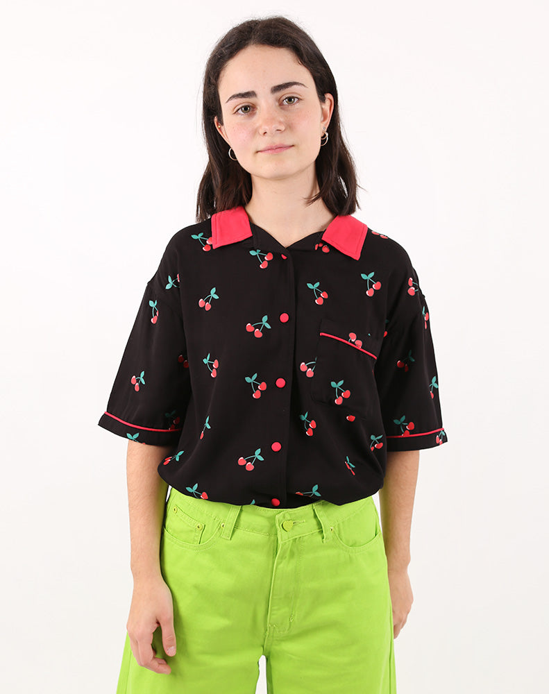 CHERRY BOWLING SHIRT