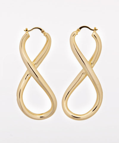 INFINITY EARRINGS GOLD