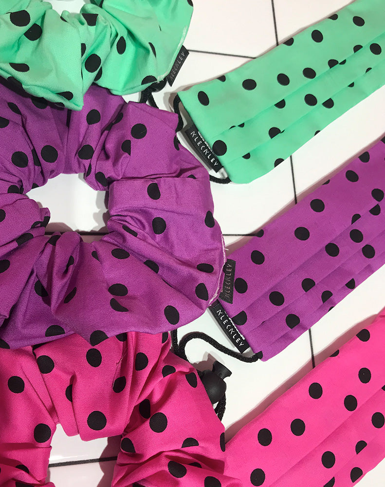 MK POLKADOTS FACE MASK & SCRUNCHIE PACK