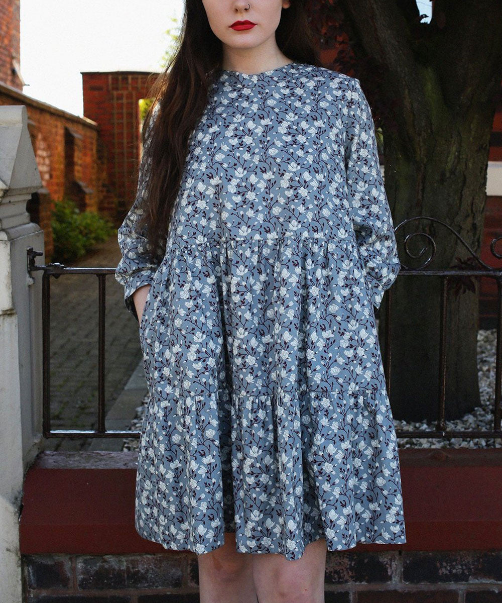 GEORGIE GREY FLORAL DRESS