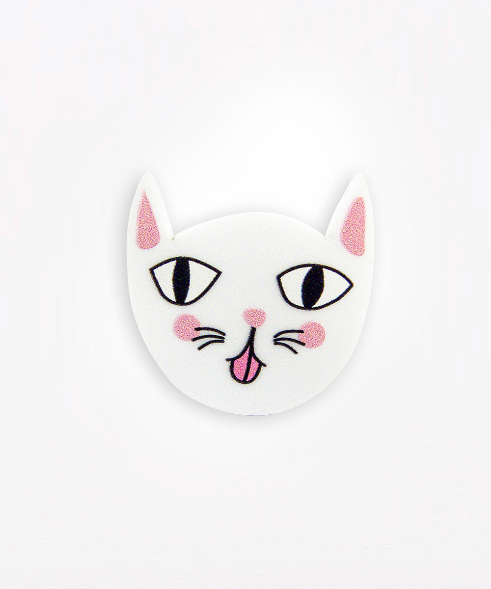 MOCKING CAT PIN