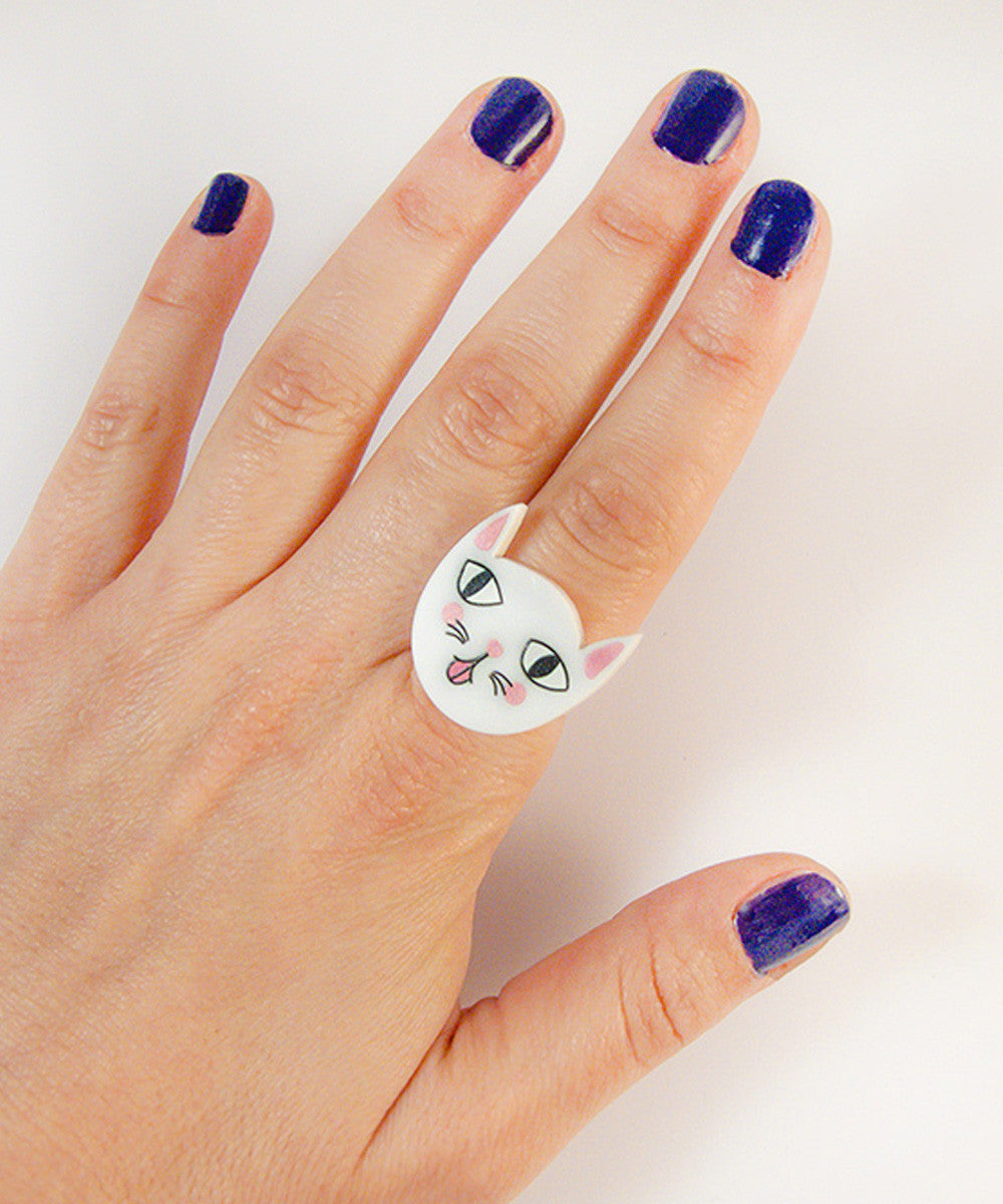 MOCKING CAT RING