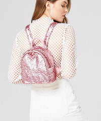 PINK SEQUIN MINI BACKPACK