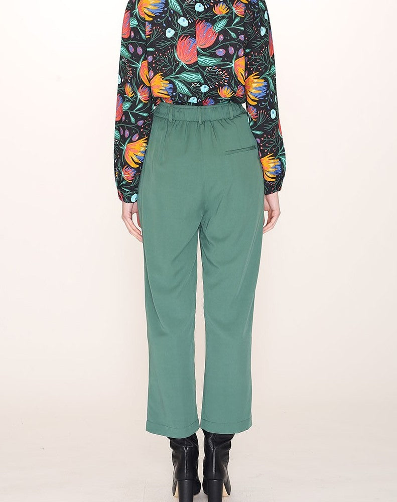TENCEL TAILORED TROUSER GREEN