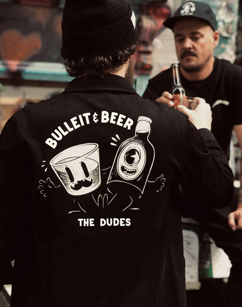 THE DUDES BULLEIT AND BEER OVERSHIRT