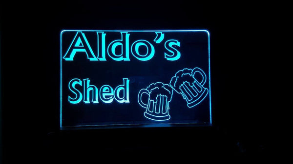 Aldo's Shed acrylic LED bar Light,multi color,remote control - designaglo