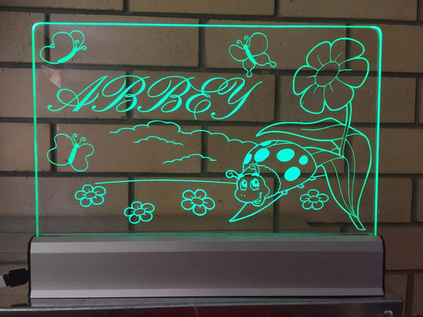 Custom Abbey LED light - designaglo