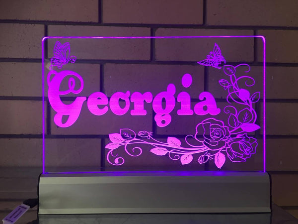 Custom Georgia LED - designaglo