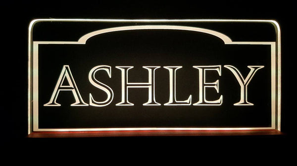 Custom Name ashley LED Light