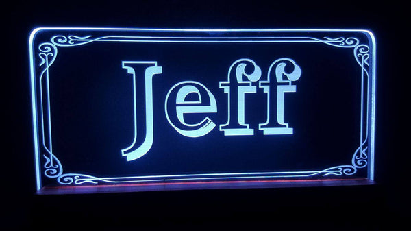 Custom Name jeff LED Light - designaglo