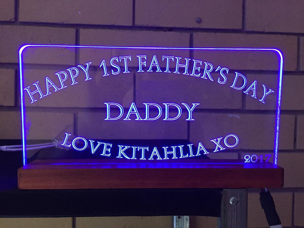 Fathers day LED light