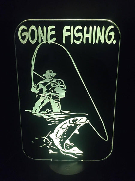 Gone Fishing LED Light - designaglo