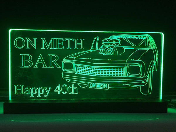 LH torana bar sign - designaglo