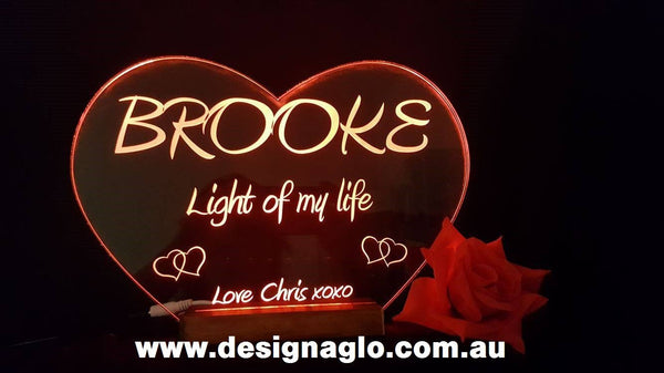 Love heart Light - designaglo