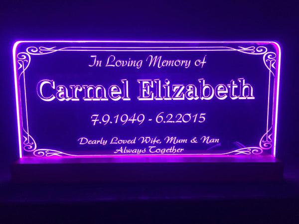 Memorial LED light