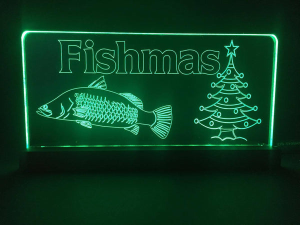 Merry Fishmas LED Light