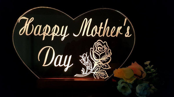 Mothers Day Heart LED light