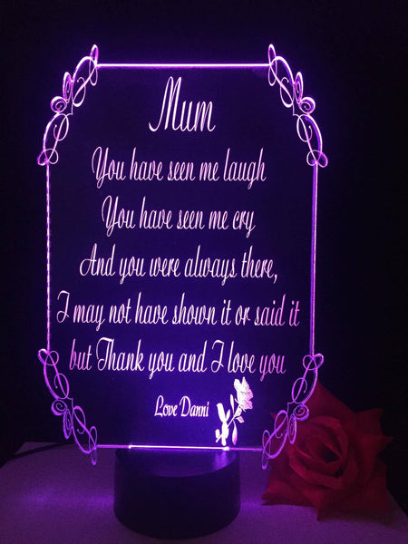 Mothers Day LED Light - designaglo