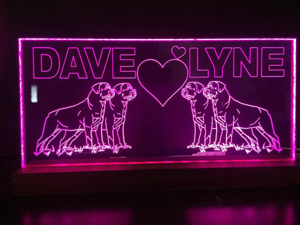 Name Wedding LED lights - designaglo