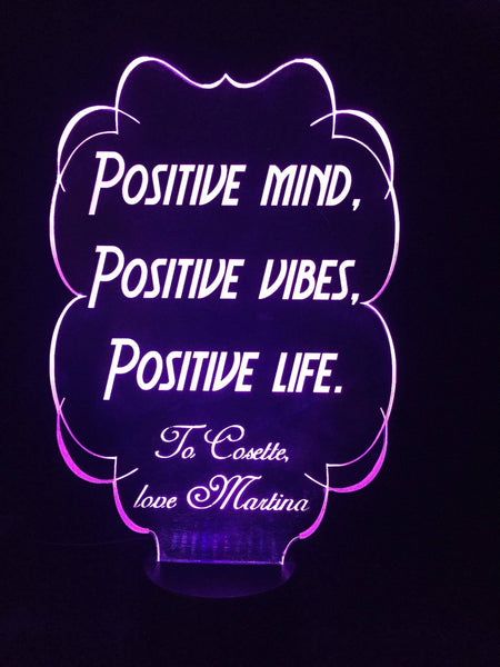 Positive Mind LED light - designaglo