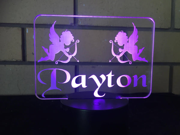 DesignaGlo cherubs LED desk/night light