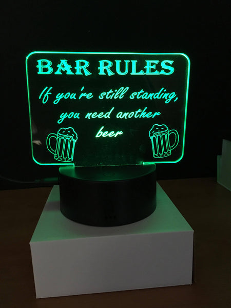 Bar Rules LED Light - designaglo