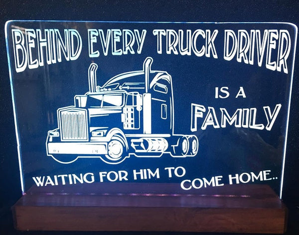 Behind Every Truck Driver