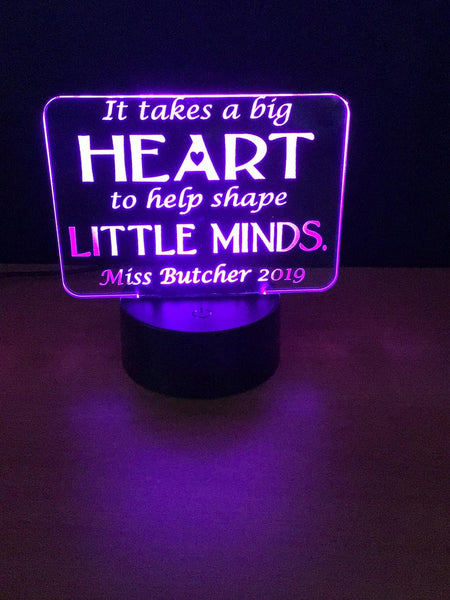 Big Heart LED light Sign