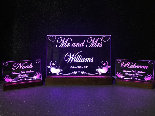 Bridal Table LED Light Collection