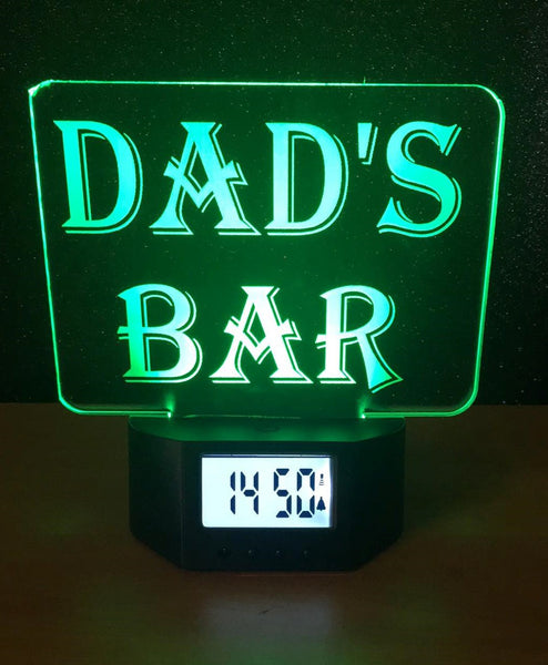 Dad's Bar Alarm Clock - designaglo