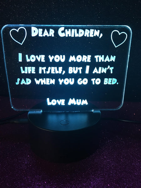 Dear Mum & Dear Children - designaglo