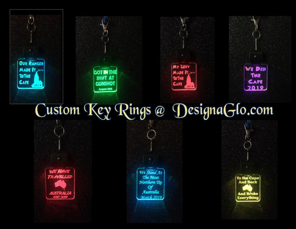 LED Key Rings about Travelling - designaglo